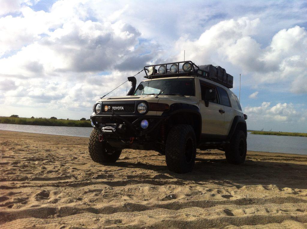 FJ chillin' on the beach