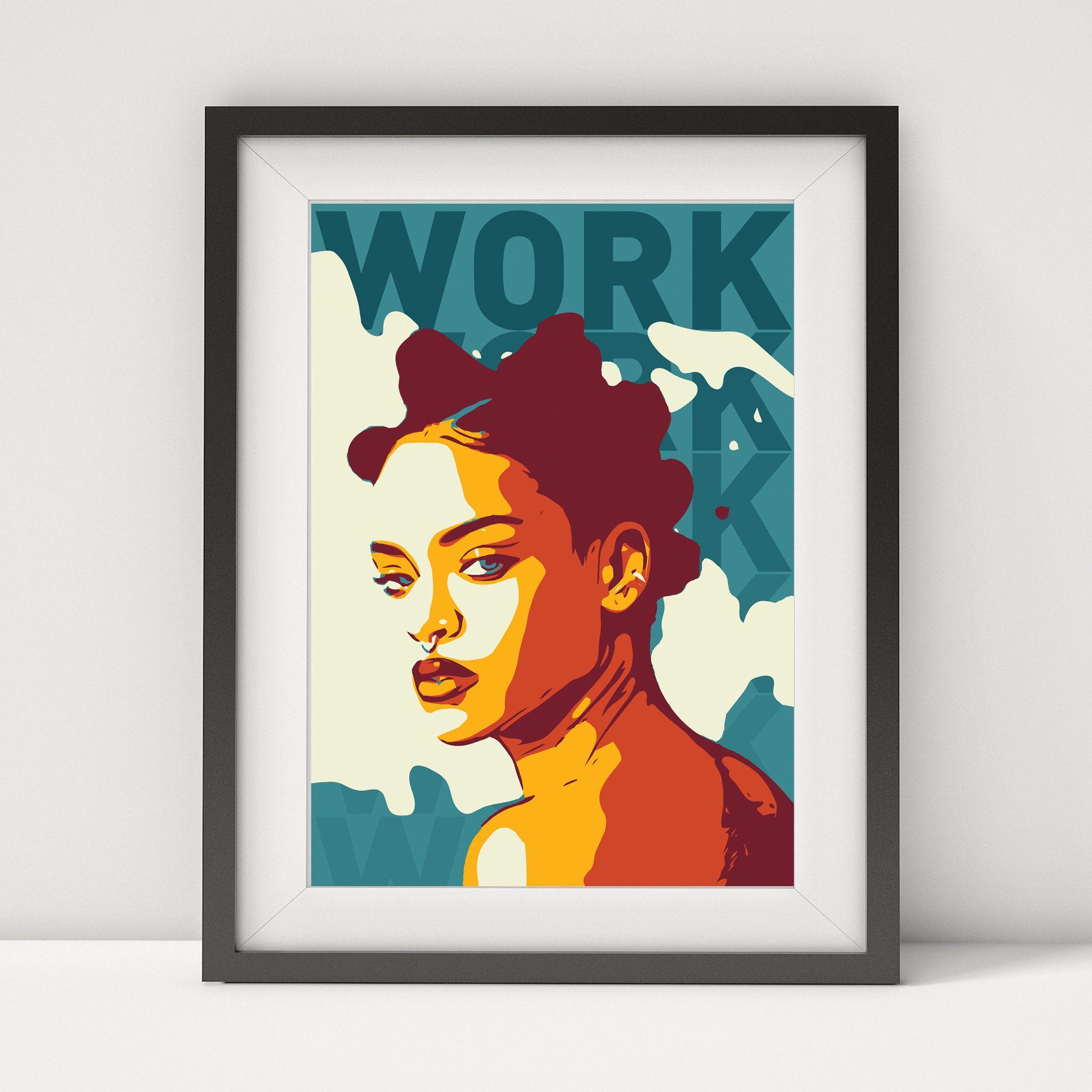 Rihanna Rihanna Poster Rihanna Art Music Poster Pop Poster Rihanna Quote Lyrics Poster Prints Pop Art Wor Pop Posters Music Poster Music Poster Design
