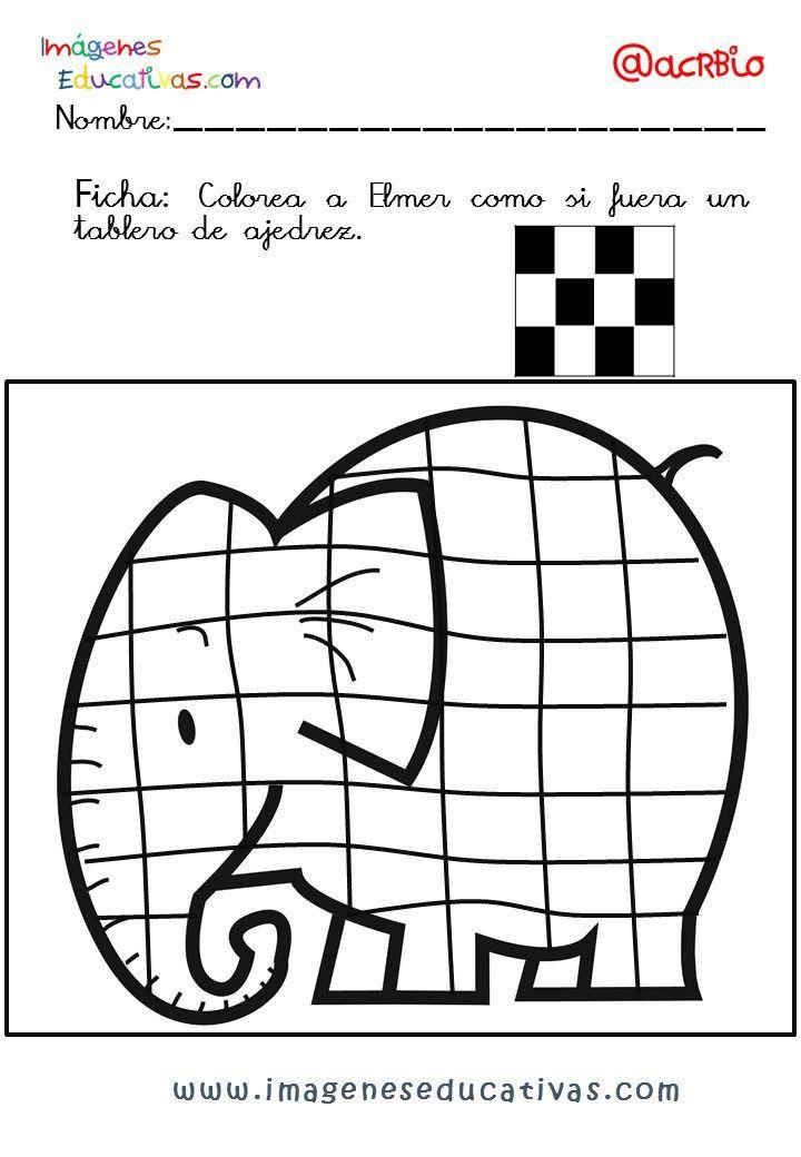 Elmer Elefante atención y grafo (8 | Expresion | Pinterest ...