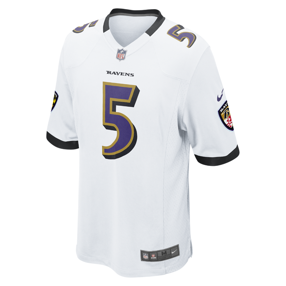 Nike NFL Baltimore Ravens (Joe Flacco) Kids  Football Away Game Jersey Size  Small (White) - Clearance Sale 6356ac0ff