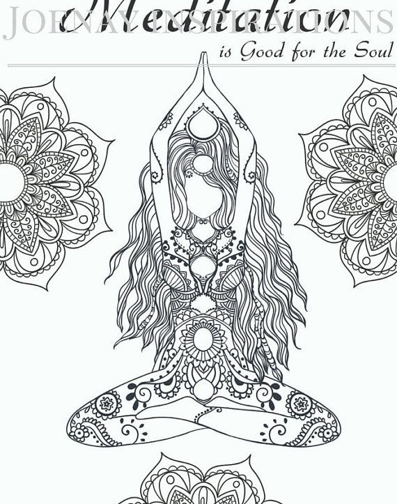 chakra mandala printable coloring pages - photo#29