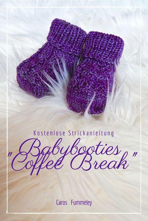 """Babybooties """"Coffee Break"""" - Kostenlose Strickanleitung ..."""