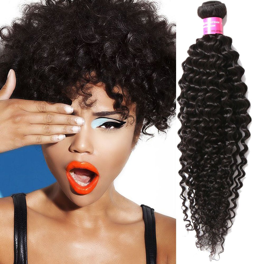 """3Bundles Black Human Curly Hair Weft 16""""18""""20""""+1pc10"""" Lace Top Closure(4""""*4"""") #wigiss #HairExtension"""