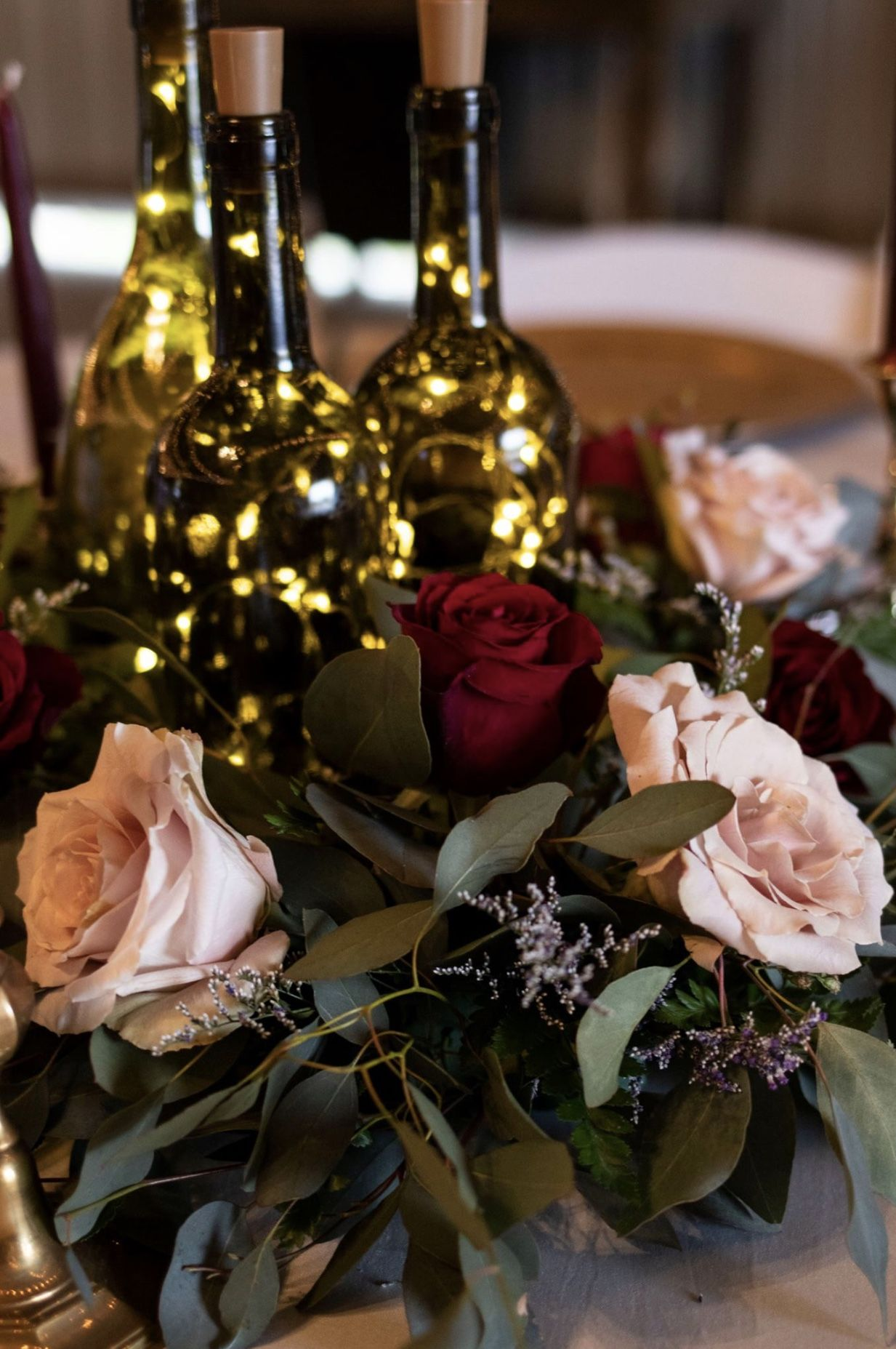 Burgundy Blush Greenery Wine Wedding Wine Theme Wedding Wine Colored Wedding Wine Bottle Wedding Decor
