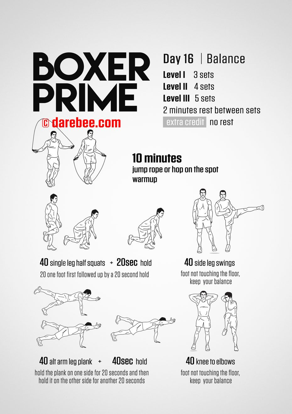 Boxer Prime: 30-Day Fitness Program | Boxing workout | Boxer