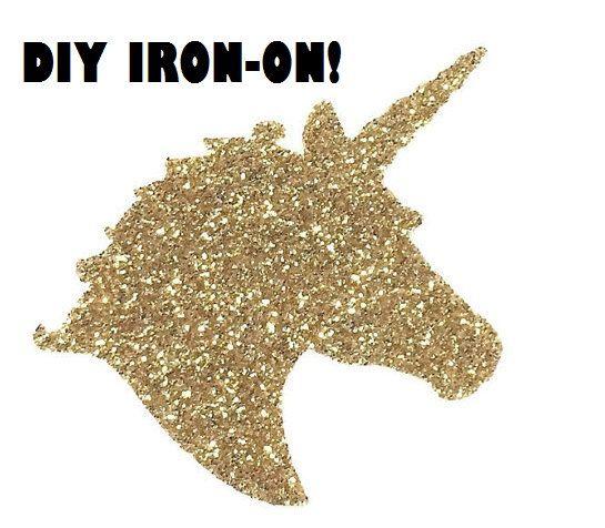 Diy UNICORN IRON ON Vinyl Applique Decal Shirt By