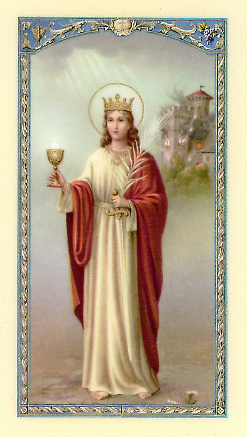 St Barbara Prayer Card Saint Barbara Patron Saints Catholic Saints