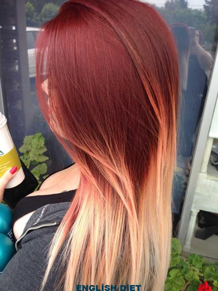 Red And Blonde Ombre Blonde Ombre Red Ombre Hair Blonde Hair Styles Red Blonde Hair