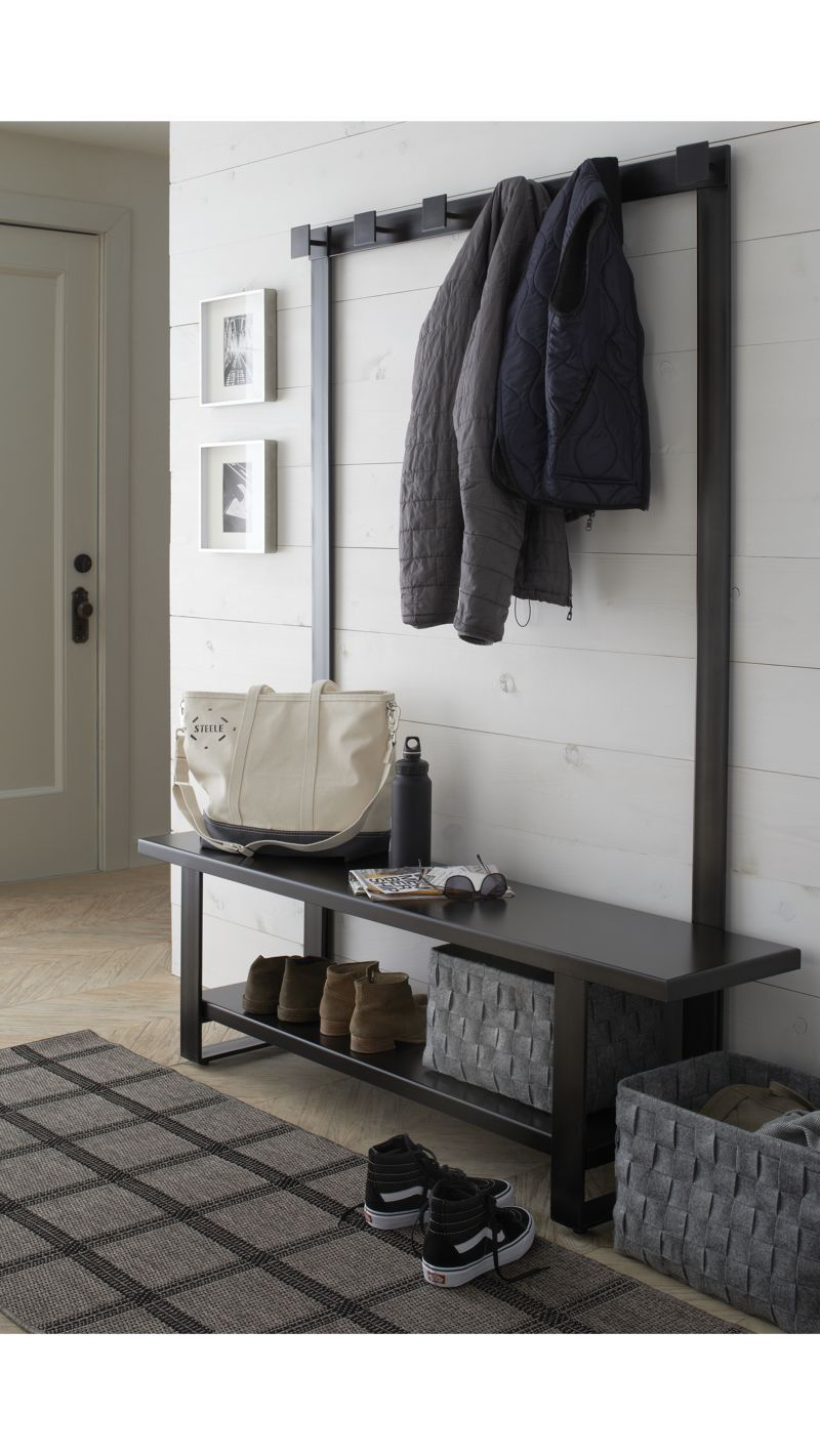 Entryway Hallway Benches With Storage Crate And Barrel Hall Tree Bench Hall Tree Modern Hall Trees Hall tree benches with storage