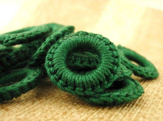 Cute! Crochet Rubber Jump Rings  6 Hand Crafted by UnkamenSupplies, $8.00