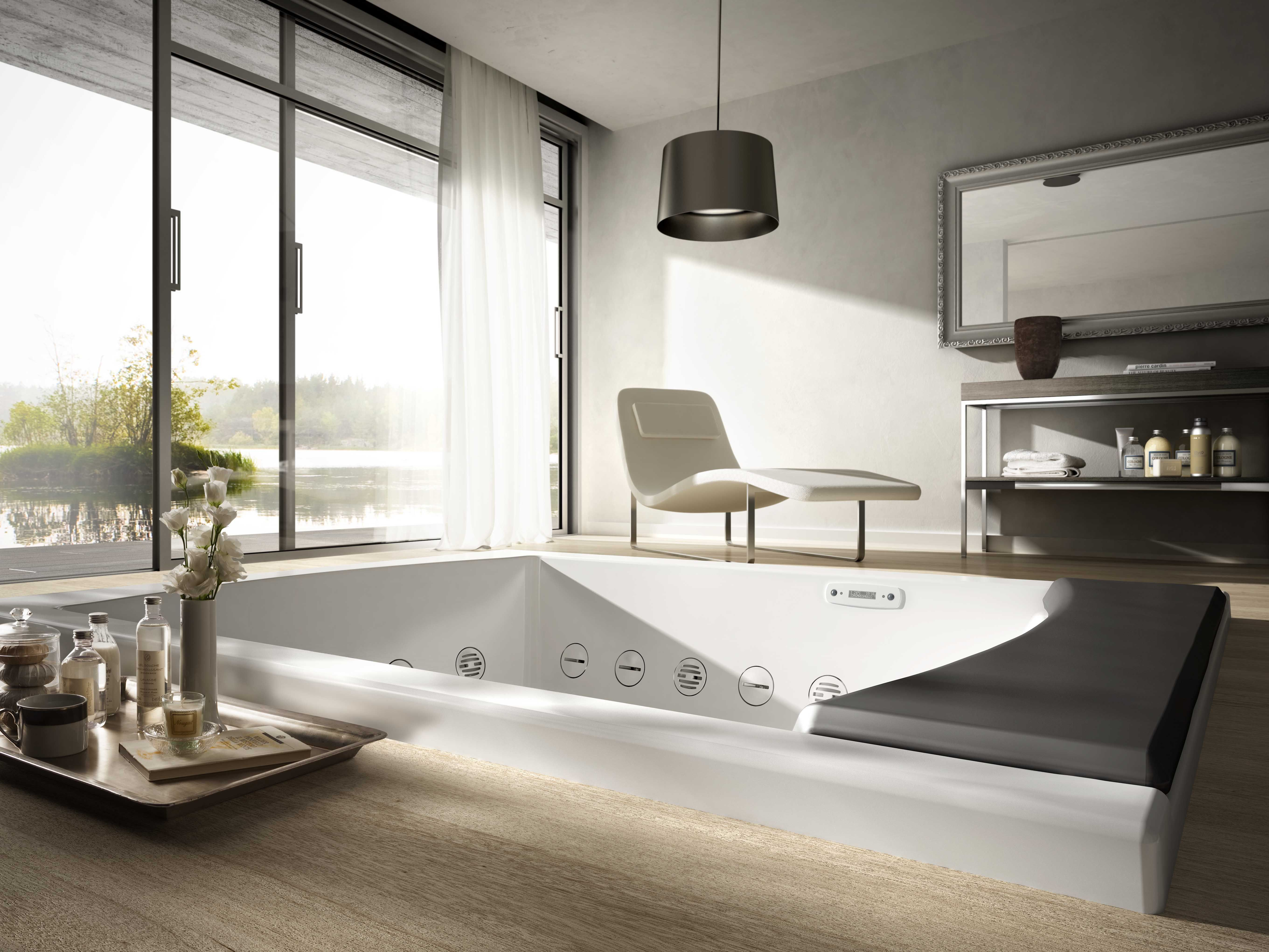 Seaside for the #bathroom, #bathtub for two people concealing a host ...