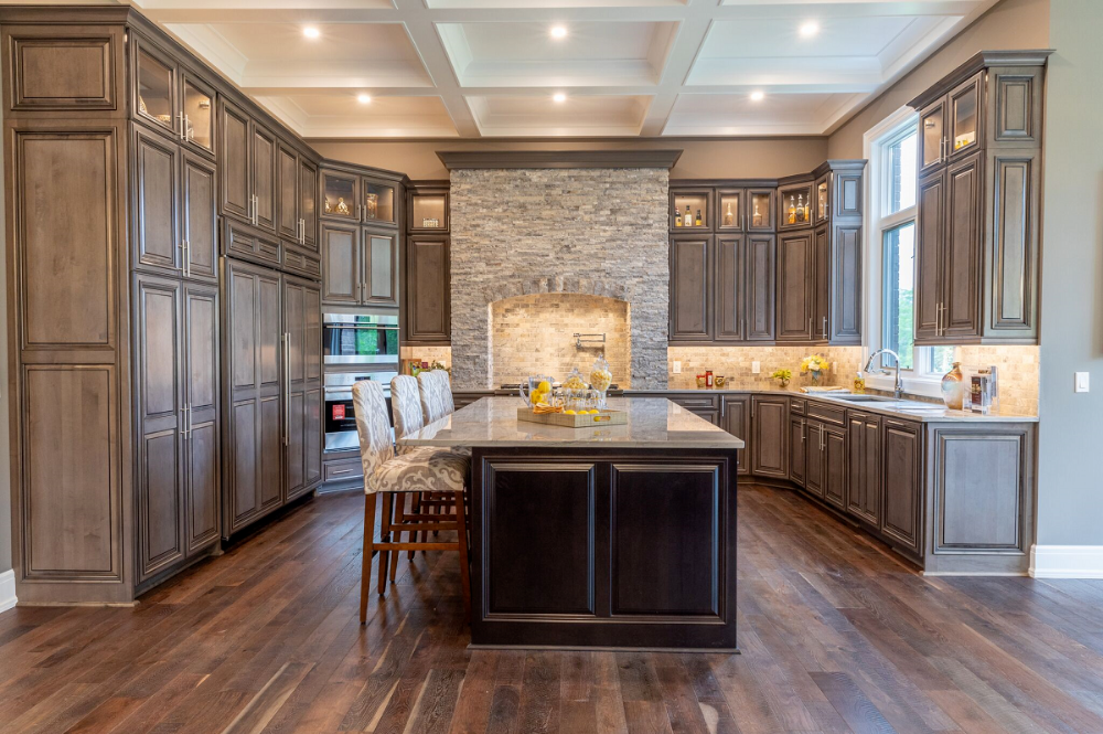 Custom All Wood Kitchen Cabinets Quote Stone + Chocolate ...
