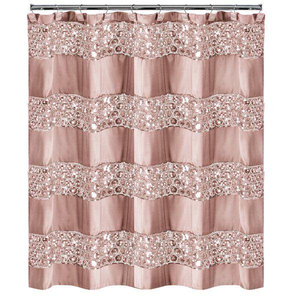 Irie Striped Single Shower Curtain Pink Bathroom Decor Popular