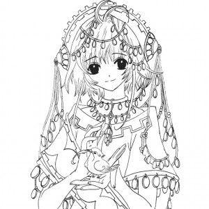 Coloriage Difficile Princesse.Coloriage Difficile A Imprimer Coloriages Mangas Coloring Pages