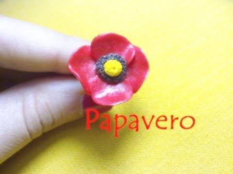 Papavero in Fimo, Premo e Cernit ✿ Poppy (Fimo, Premo & Cernit) ~ Polymer Clay Tutorial - YouTube