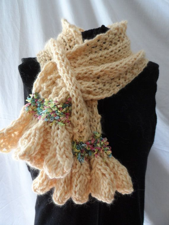 Olivia Yellow  Scarflet Neck Wrap Warmer by nouveauvintageltd, $59.00