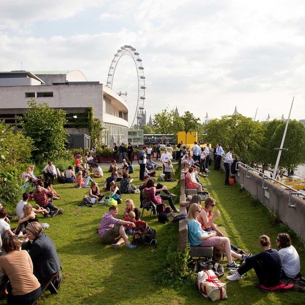 Queen Elizabeth Hall Roof Garden Bar And Cafe Southbank