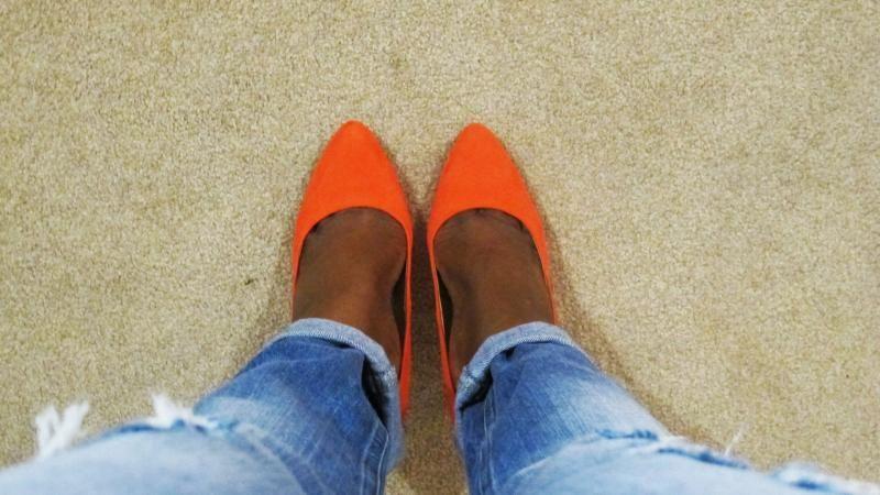 #orange #heels #asos #fashion #springtrend