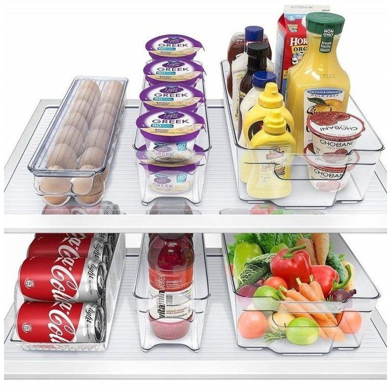 Storagemaid Refrigerator Organizer Bins Stackable Storage Containers Walmart Com In 2020 Refrigerator Organization Fridge Organization Organizing Bins