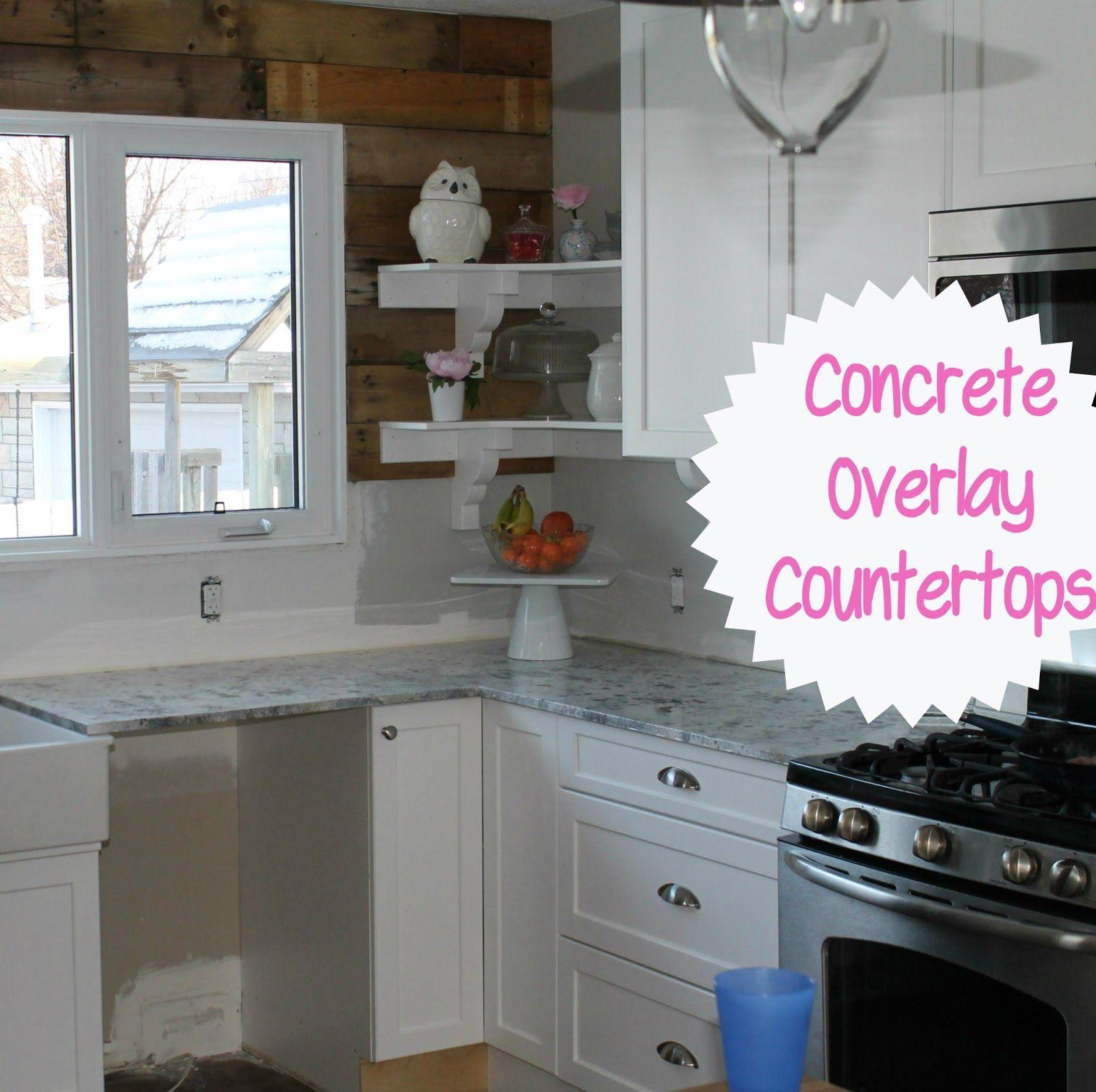 Concrete overlay countertop reveal countertops concrete
