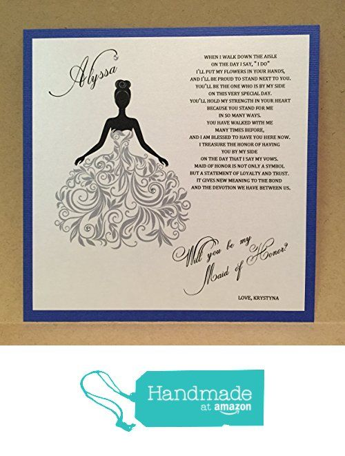 Custom Will You Be My Bridesmaid Card / Maid of Honor Cards / Bridesmaid Flower Girl Personalized Card Invite Bridesmaid Proposal {Dress 2 Silver} from Mrs. Case's Shop https://www.amazon.com/dp/B0176RO9II/ref=hnd_sw_r_pi_dp_.0A6xb06PYHSP #handmadeatamazon