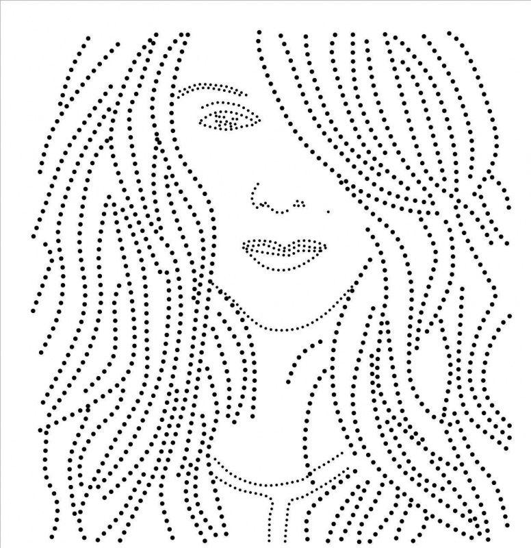 gezicht   Meisjes en vrouwen   glittermotifs   dekoracijos ...