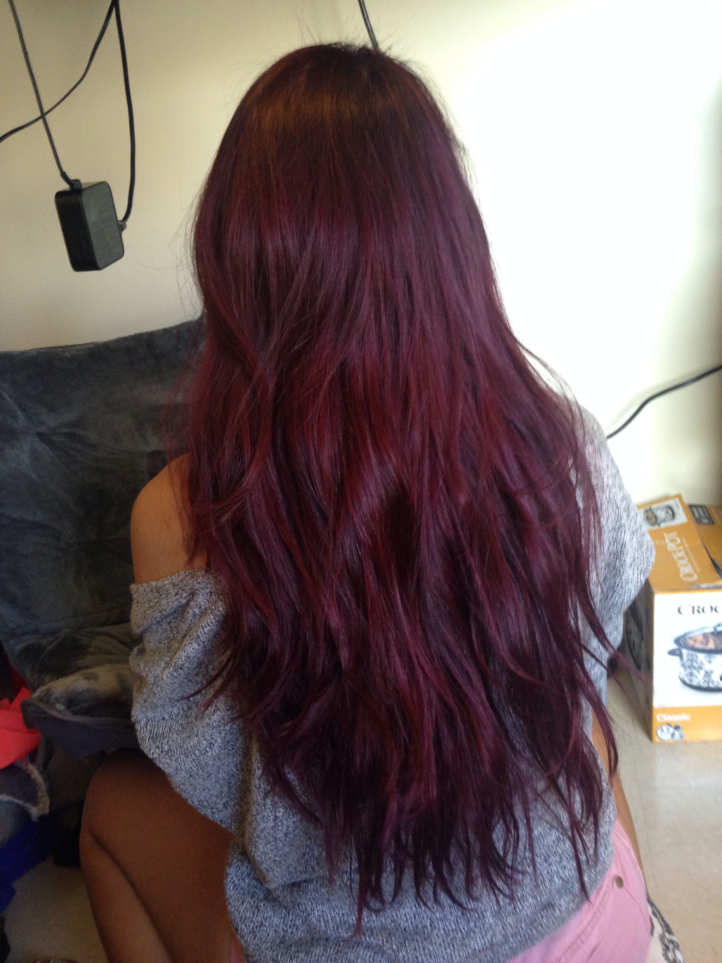 Merlot hair color - Purple Hair Vidal Sassoon London Lilac Box Dye My Current Hair Colour