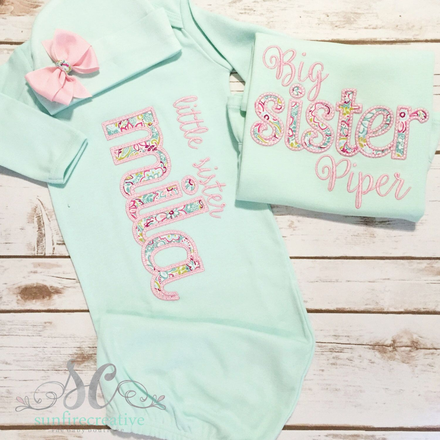 Big Sister Little Sister Outfits Matching Sister Shirts Big Sister Shirt Baby Girl Coming Home Outf Baby Outfits Newborn Baby Girl Shirts Matching Sisters