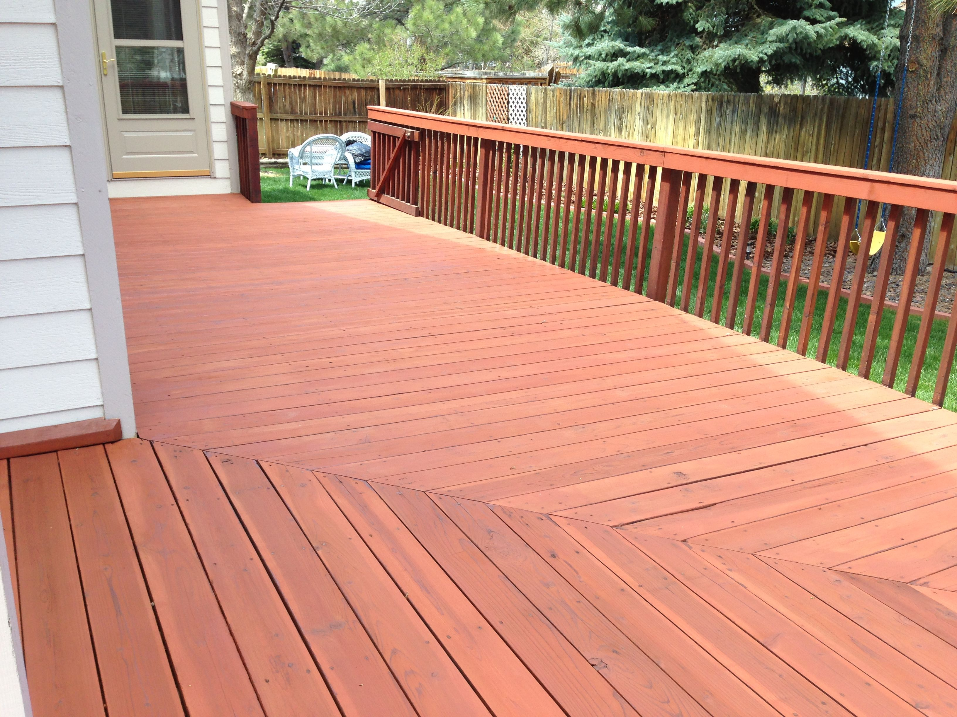 Cabot Deck Stain In Semi Solid Redwood Staining Deck Best Deck