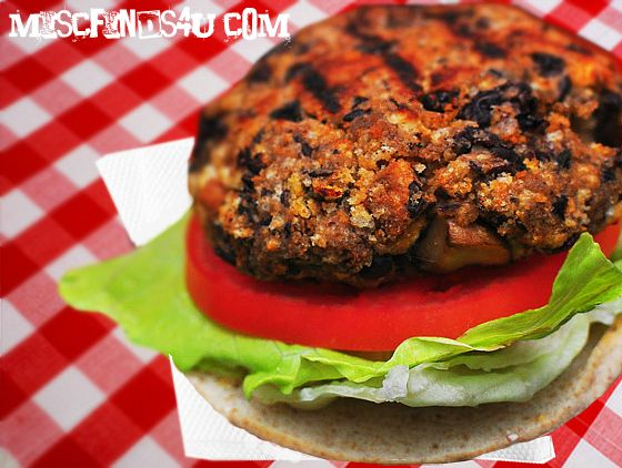 Summertime Vegetarian Grilling Recipes - Black Bean Burgers