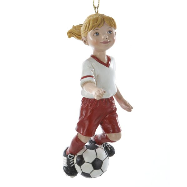 Country Marketplace - Soccer Girl Ornament, $12.00 (http://www.countrymarketplaces.com/soccer-girl-ornament/)