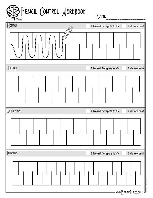 pencil control workbook prewriting skills pre writing