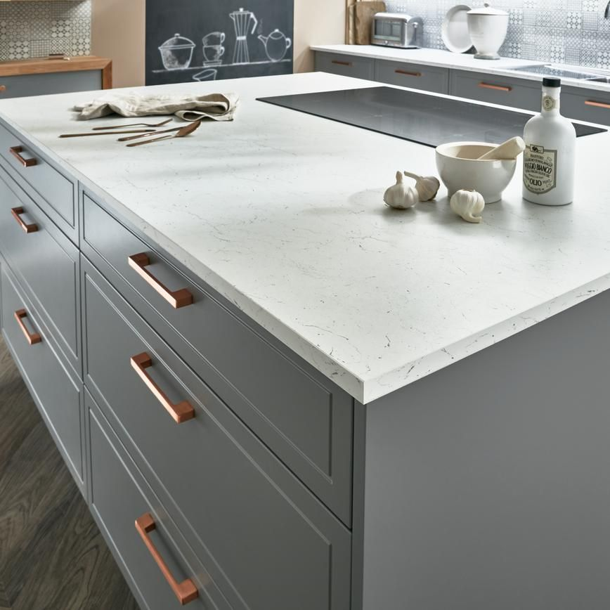 Introduce Vintage Glamour To A Slate Grey Kitchen With A