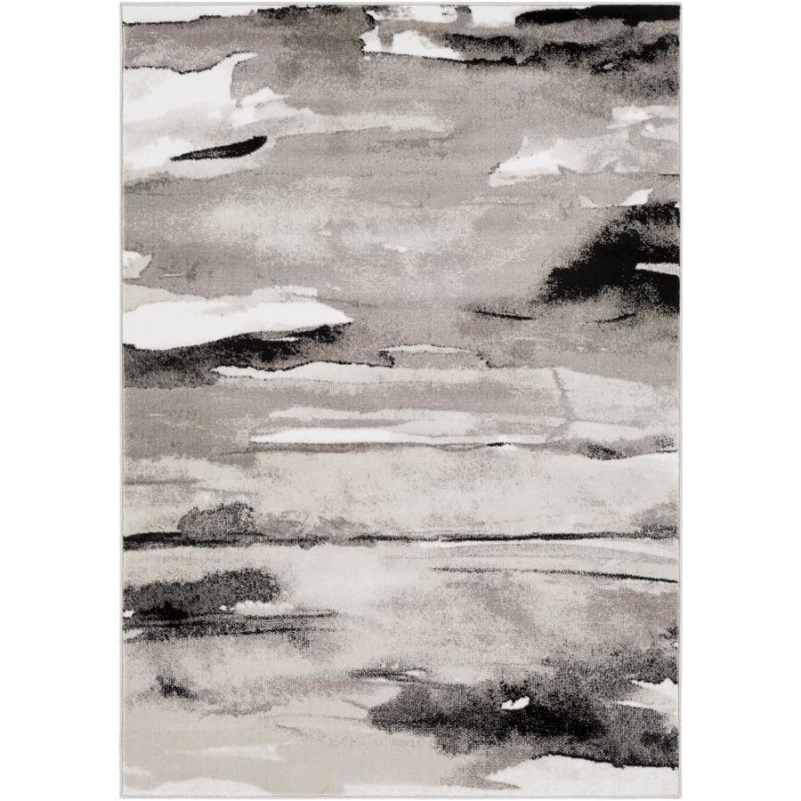 Surya Nova 5 X 8 Grey Indoor Abstract Industrial Area Rug In Gray