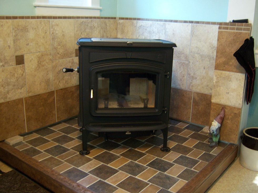Stove On Ceramic Tile Hearth Home
