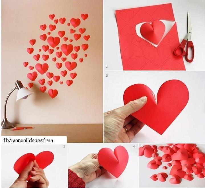 Corazones De Papel Dengan Gambar Kreatif Ide Dekorasi Origami