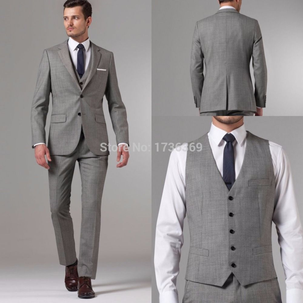 Find More Suits Information about 2015 Custom Made Gray Men Suits ...