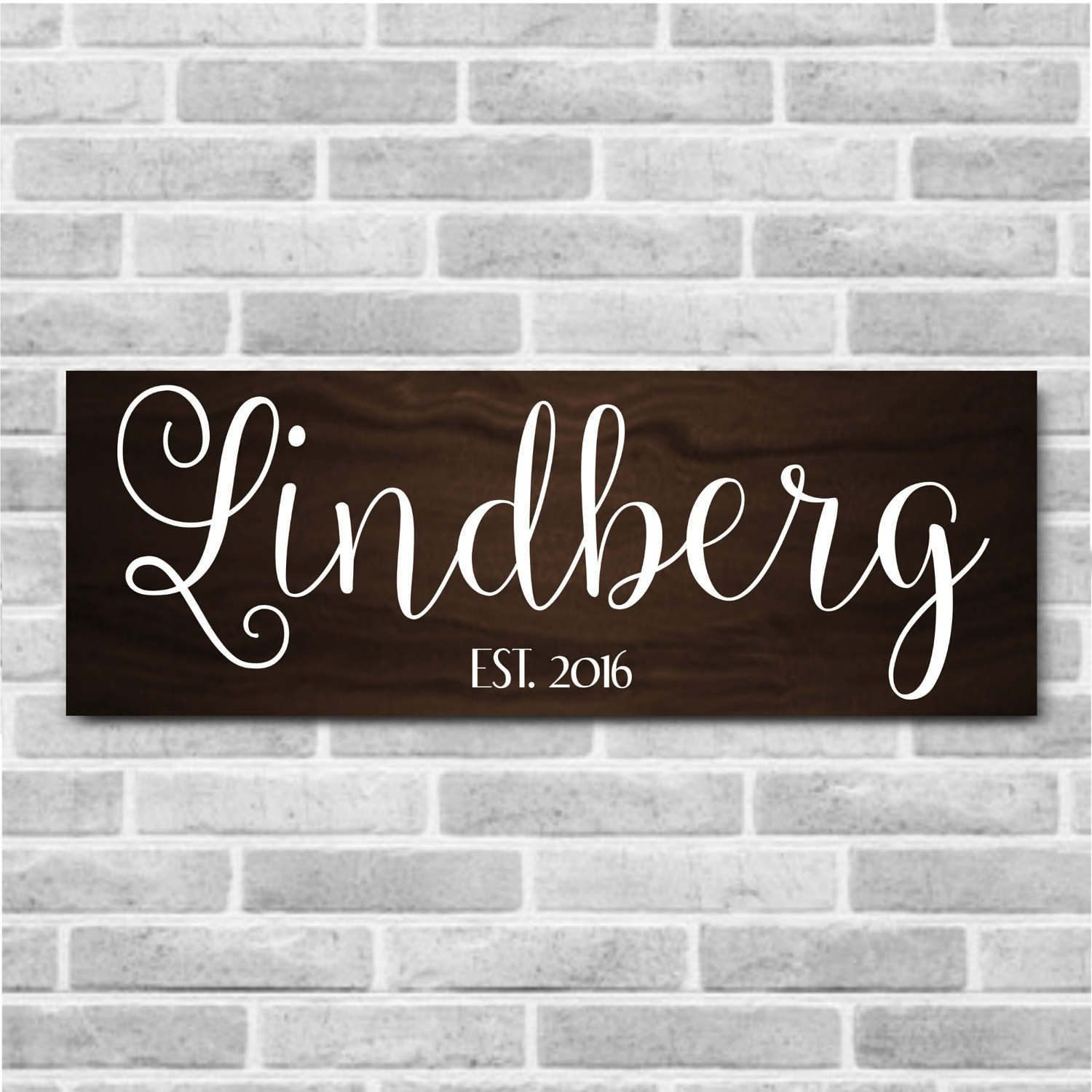 Superior Personalized Wooden Last Name Established Sign   Personalized Home Decor    Personalized Wood Sign   Established