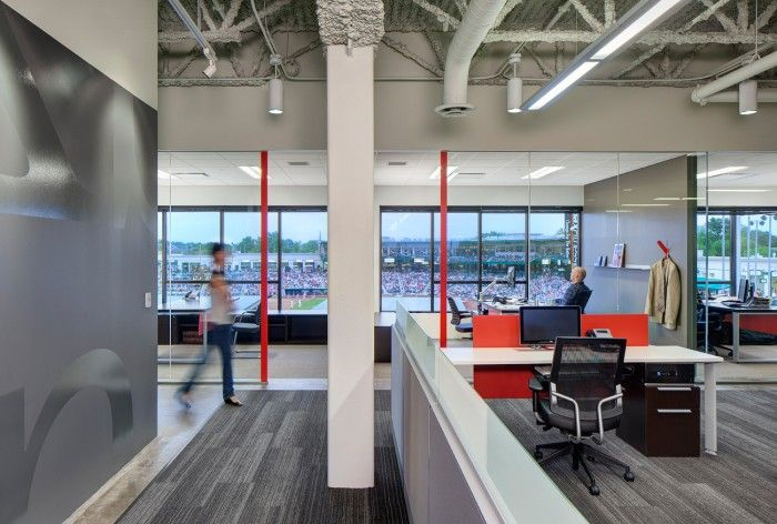 Office Tour Carson Boxberger S Open Plan Law Offices Commercial