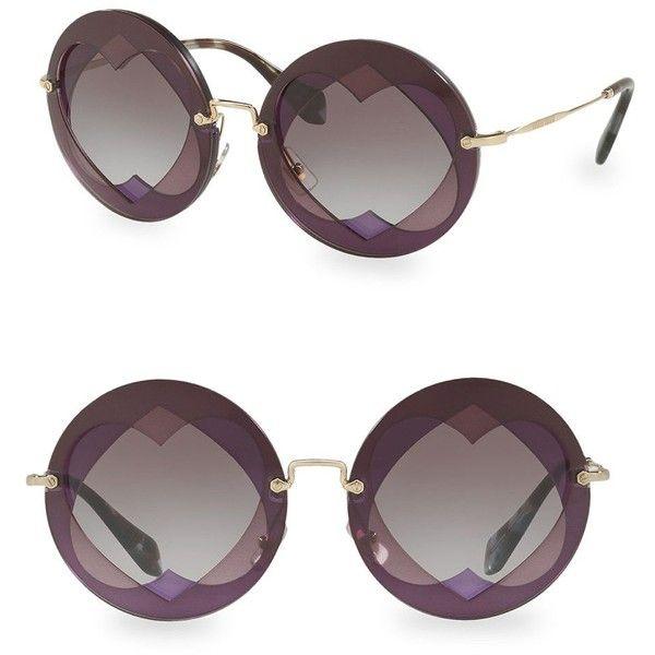d463459a885 Miu Miu Injected Woman s 62MM Round Sunglasses (1