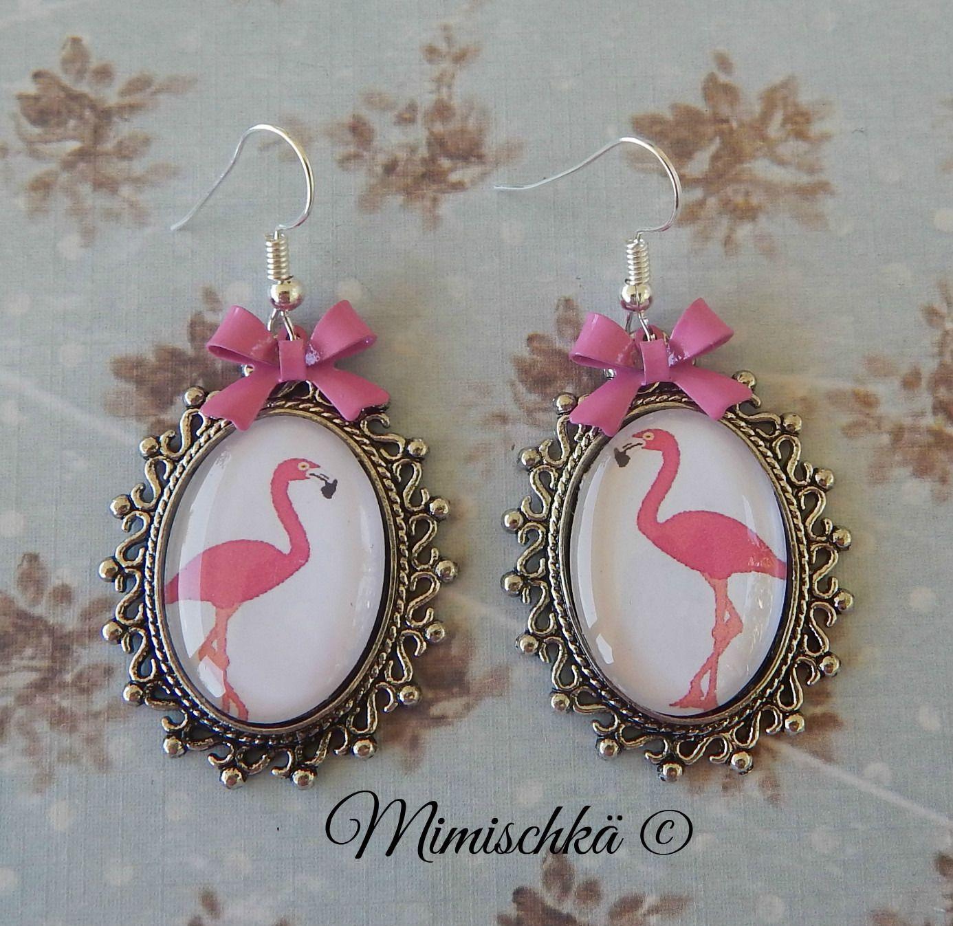 Boucles d'oreilles les flamands roses : Boucles d'oreille par mimischka