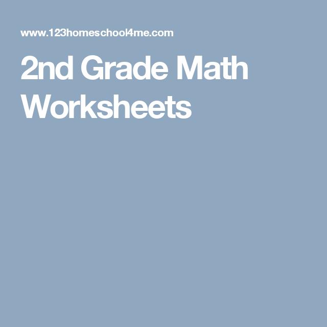 2nd Grade Math Worksheets | Teaching - maths | Pinterest | Math ...