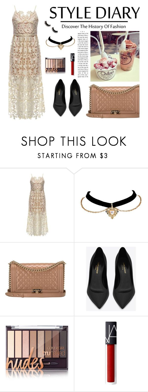 """""""Rosegal 52"""" by merima-kopic ❤ liked on Polyvore featuring Chanel and Yves Saint Laurent"""