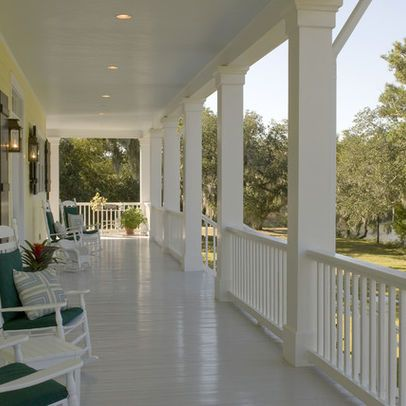 Porch Lighting Design With Outdoor Pot Lights Traditional Porch