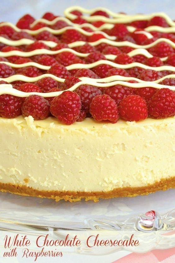 Cheesecake doesn't need to be heavy & stodgy. Learn how to make this light textured, luscious white chocolate cheesecake; perfect with fresh raspberries. This one would make a perfect Mothers Day dessert.