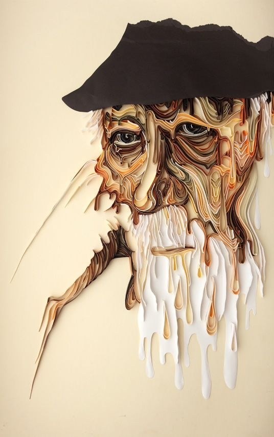 Colorful D Paper Designs Beautifully Showcase Emotion Portraits - Vibrant paper illustrations sculptures yulia brodskaya