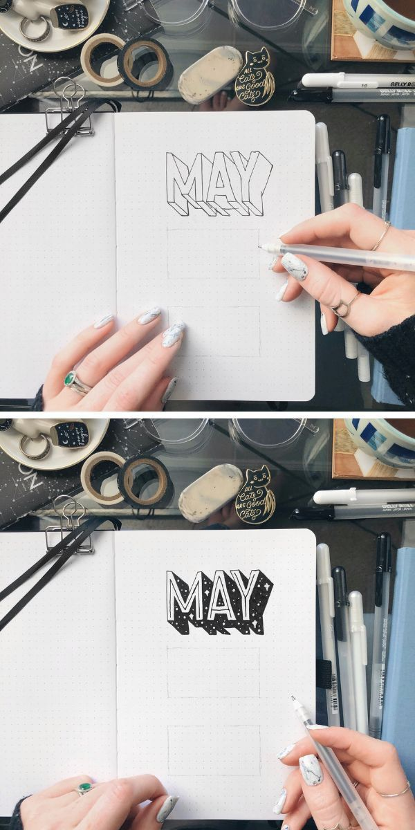 How To Easily Add Shadows To Your Bullet Journal Lettering #learning