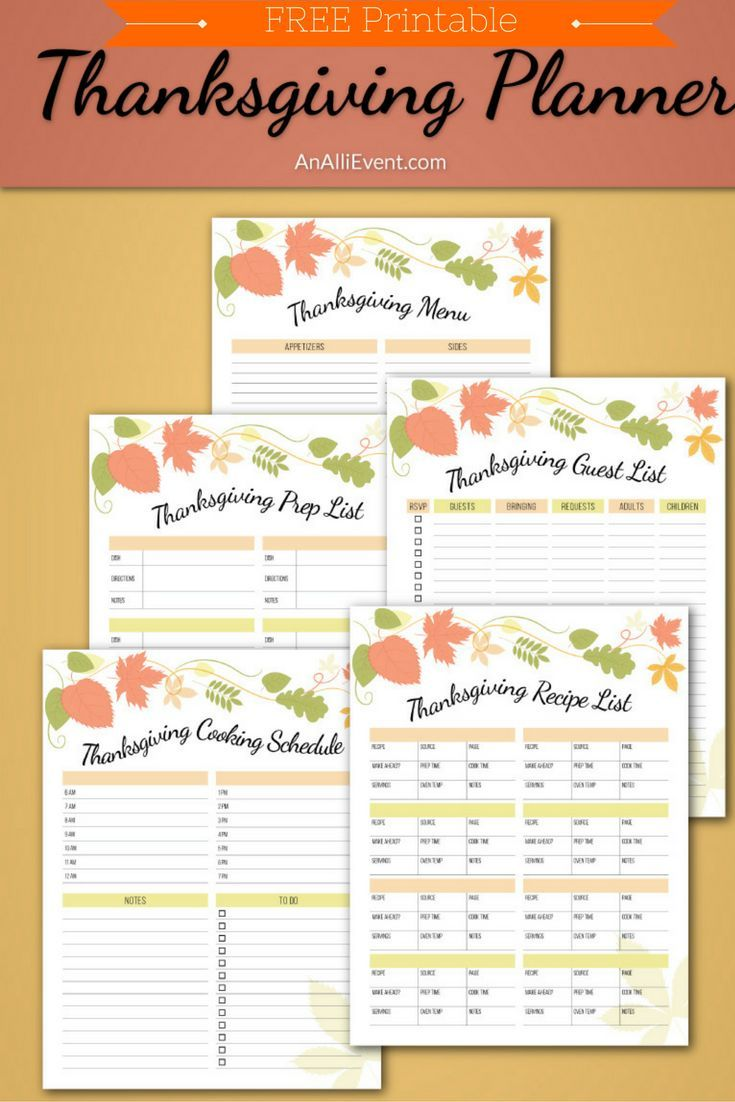 free thanksgiving planner printable fall thanksgiving halloween