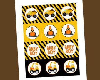 Under Construction Baby Shower Invitation by TresChicParty on Etsy