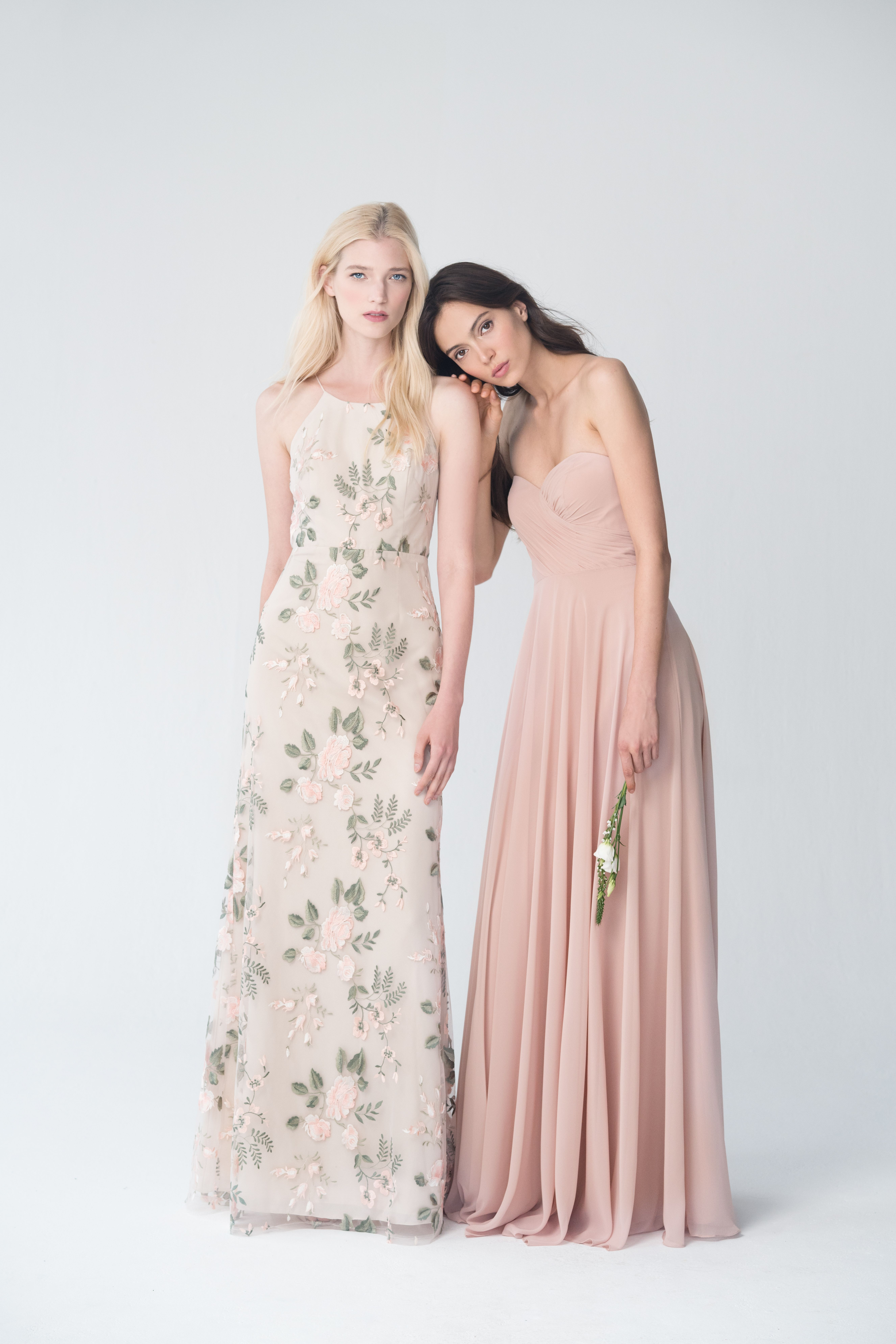 add5d893292a3 Jenny Yoo Claire in Blush Sand Dune and Adeline in Desert Rose ...